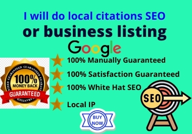 I will do local citations SEO or business listing and GMB ranking