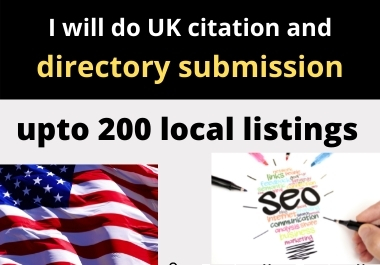 I will do UK citation and directory submission upto 200 local listings