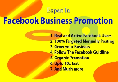I Will Do Best Organic Promotion for Your Business.