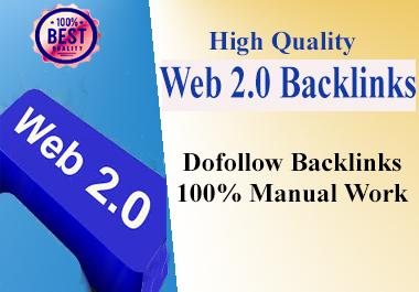 I Will Create 50 High D A Web 2.0 Backlinks for Link Buildup.