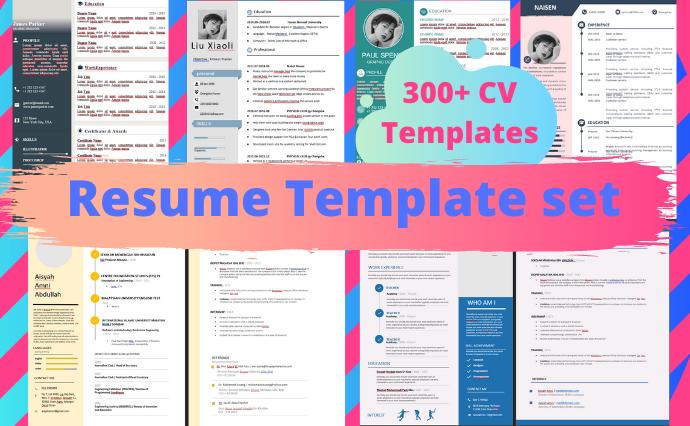 300+ Resume Template Bundle - Resume set