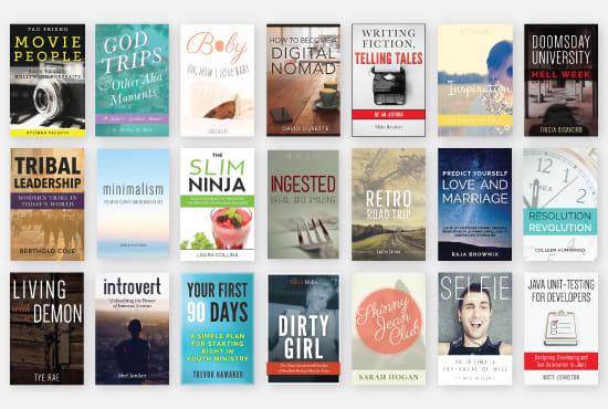 design a modern & unique 5 ebook covers