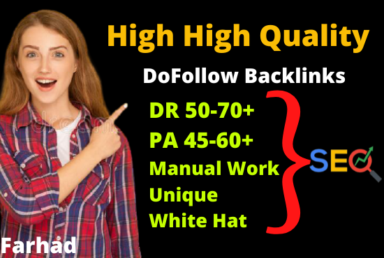 I Will Manually Create 50 High Quality DoFollow Backlinks For Off page Seo