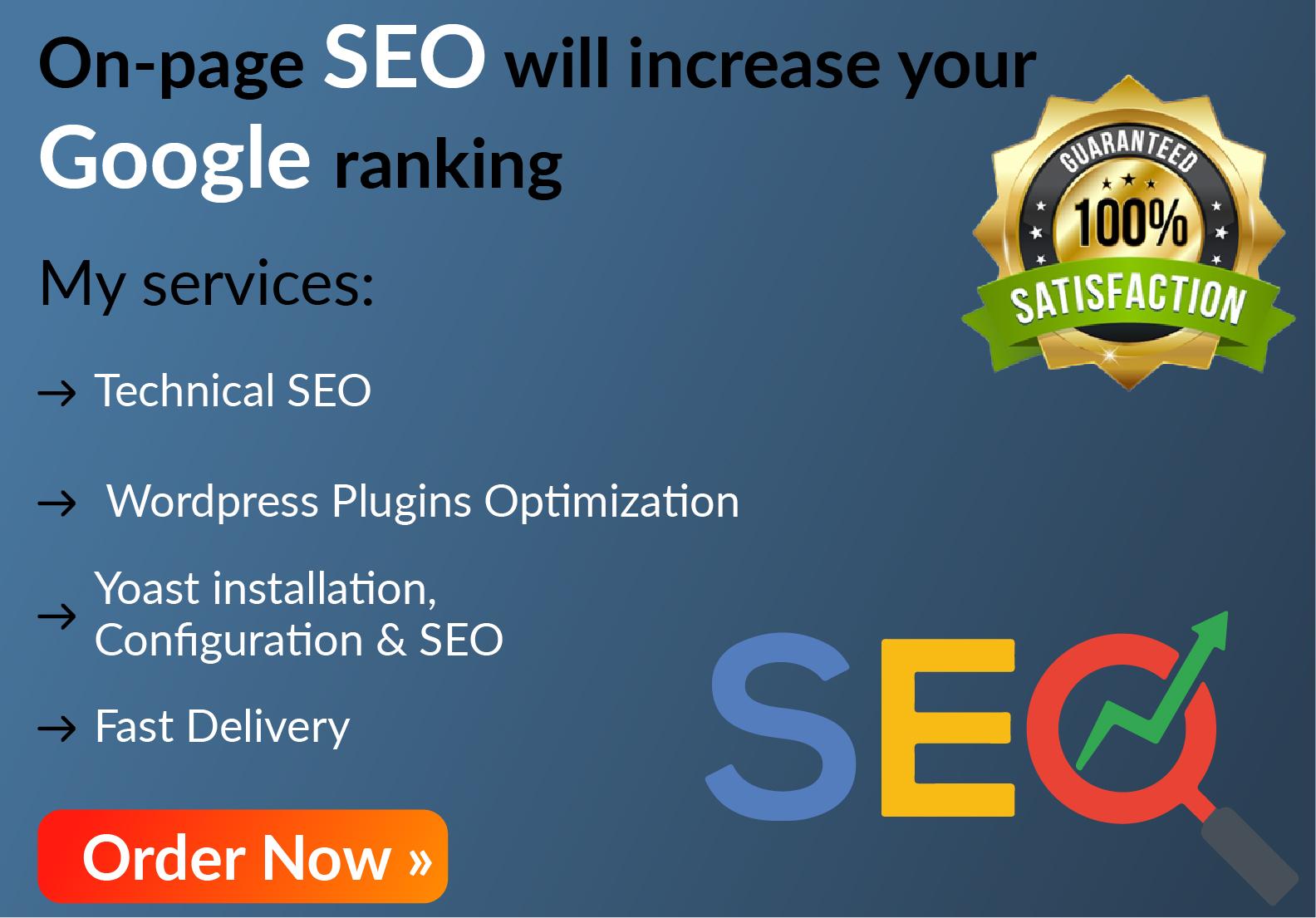 I will do WordPress on-page SEO with rank math or Yoast