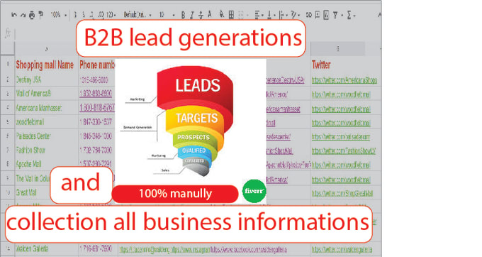 B2B Lead Collection Targeted Business