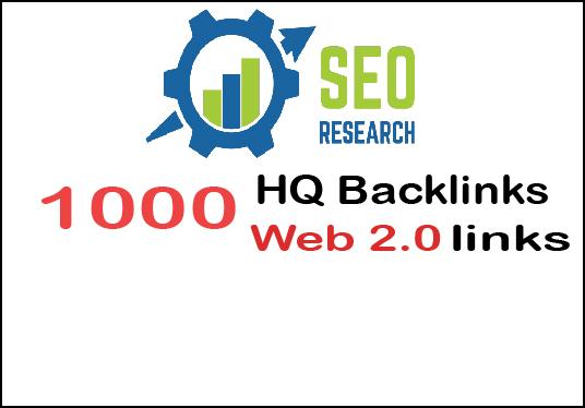 Provide 1000 Web 2.0 HQ Backlinks Help Rank Your Website