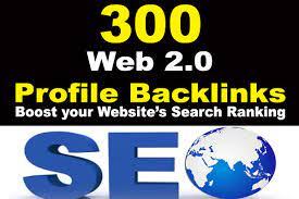 I will 300 Web 2.0 Profiles Backlinks High PR