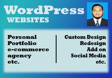 I will Build your dream Portfolio,  e-commerce,  Agency website