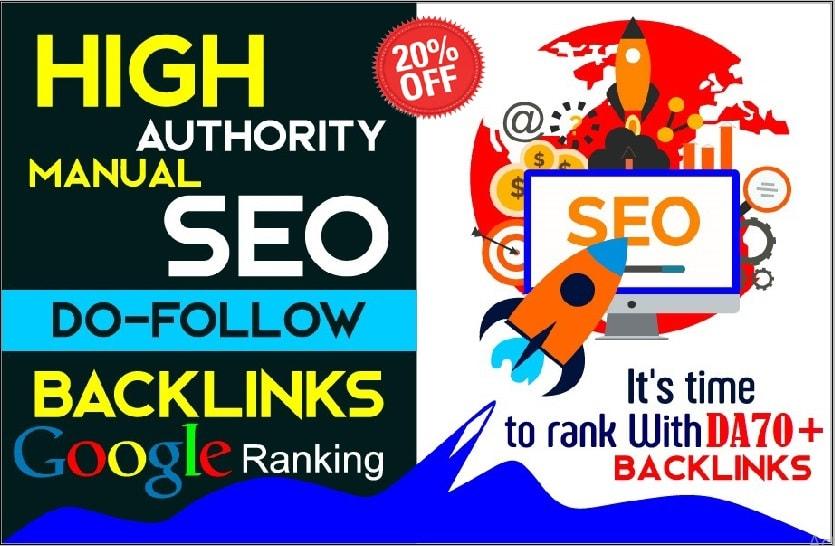I will build best 150+ high quality high da SEO dofollow backlinks