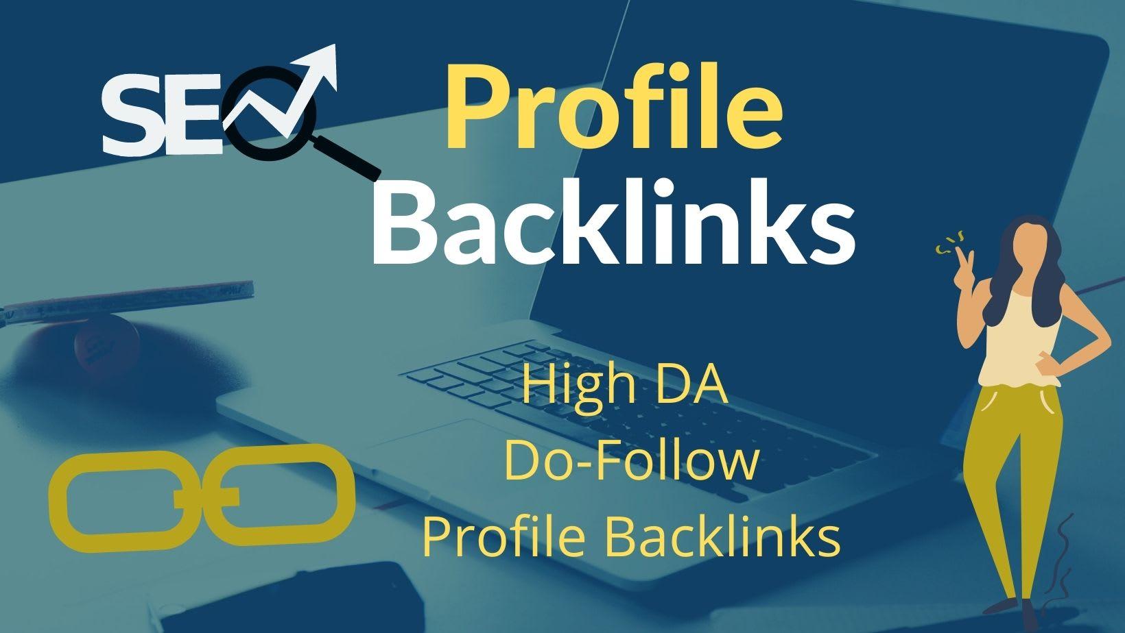 I Will Build 50+ profile backlinks high authority do follow links building