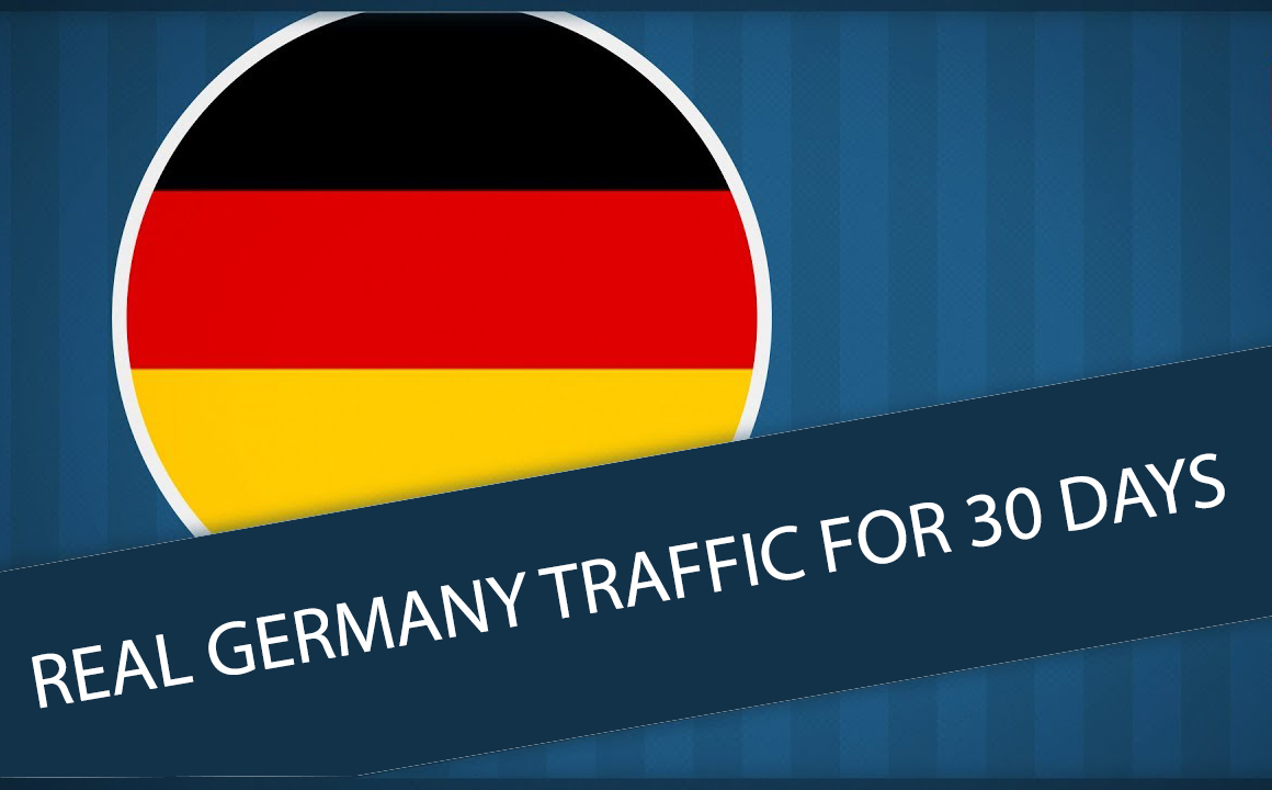Get UNLIMITED targeted organic web traffic for 30 days from Germany