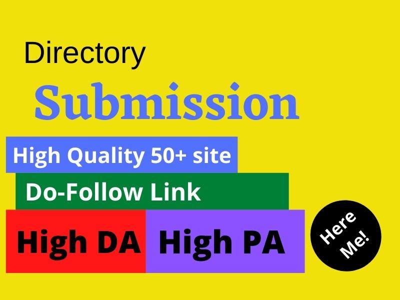 I will do 50 HQ web directory backlinks