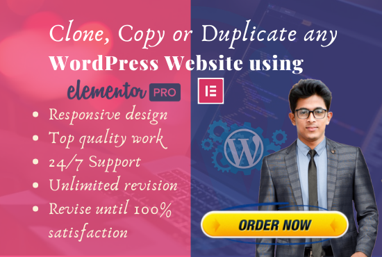 I will clone,  copy or duplicate and redesign any WordPress website 5-8 pages