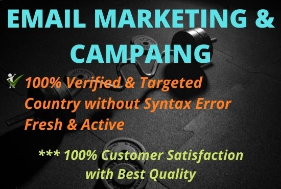 I will provide you 1k active & valid 100 profitable email marketing campaign.