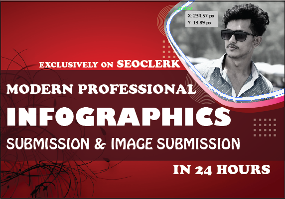 Make 80 manual infographic or image submission to top photo sharing sites has high DA/PA backlinks
