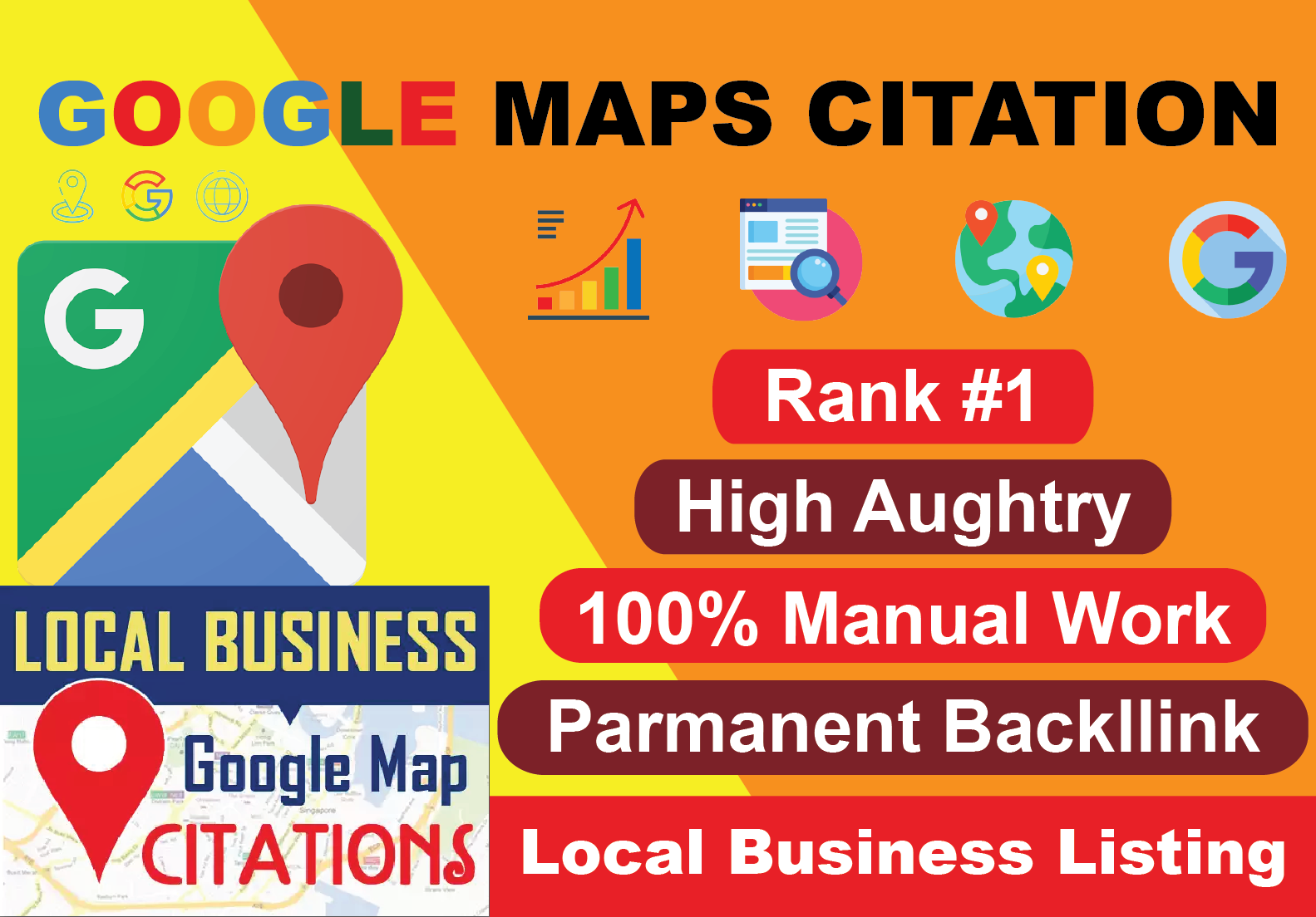 200 Google Maps Citation Create Manually with your Business Information promote by local SEO service