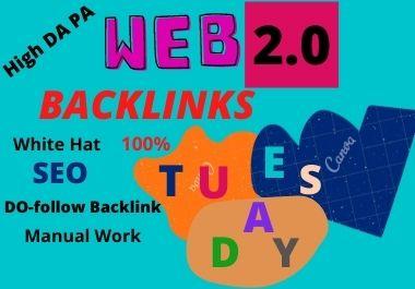 80 Web2.0 dofollow high authority unique contextual permanent unique quality backlinks