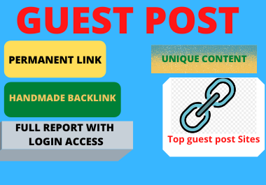 Write and publish 10 guest post dofollow backlink high DA websites DA 90 plus contextual
