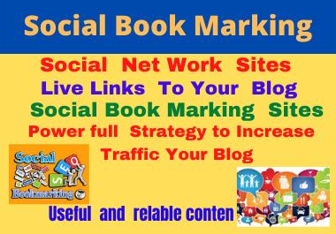 I will 80 social bookmarks dofollow backlinks high authority permanent high da