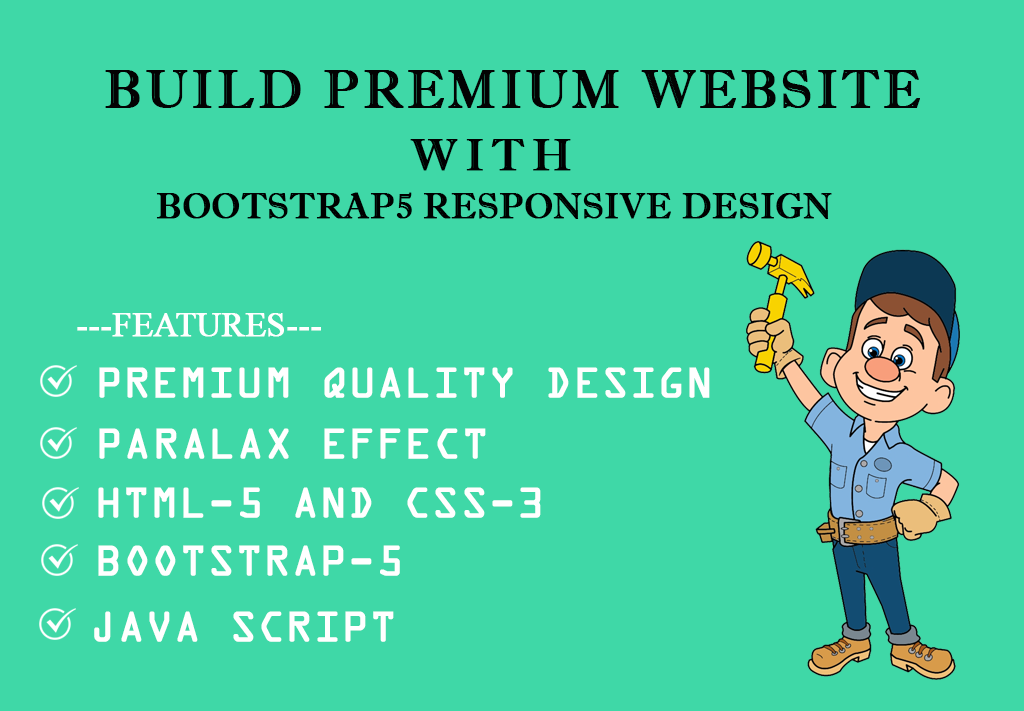I will build premium website with bootstrap5 responsive design