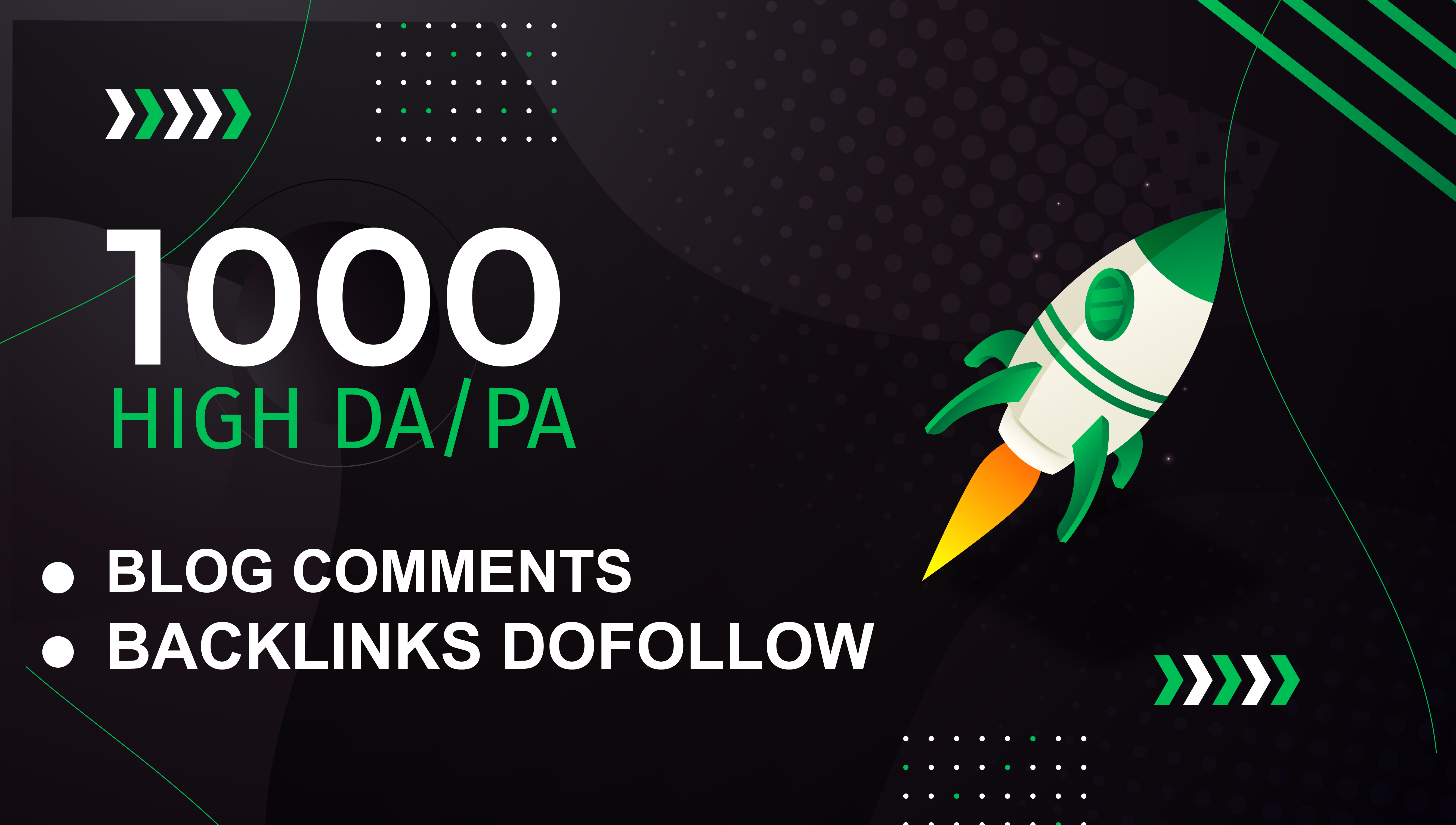 I will Provide High Quality 1000 Dofollow Blog Comments Backlinks
