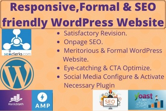 I will do responsive & formal Landing page with SEO friendly for wordpress website