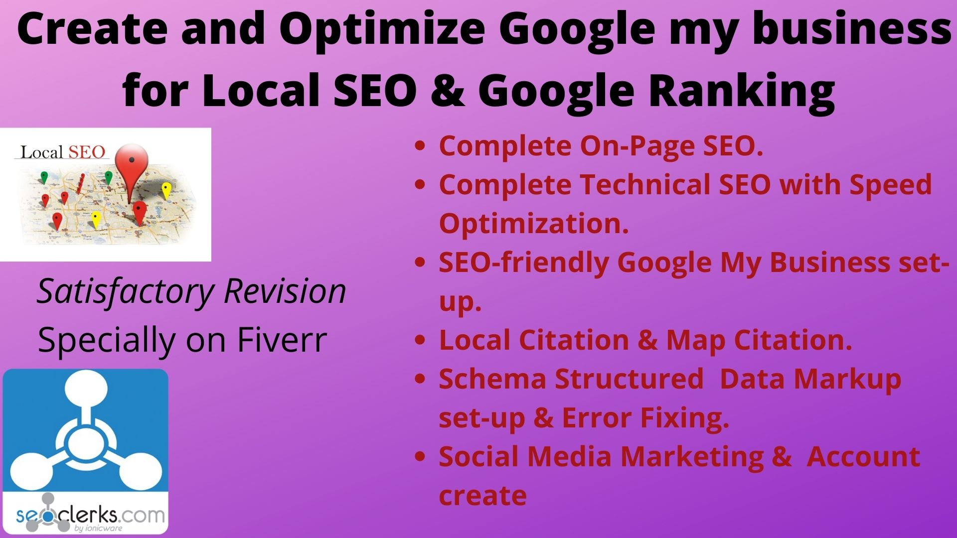I will Create and Optimize gmb for local SEO & Google Ranking