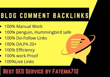 I will do 50 Blog comments on High authority sites DA up to 20-80