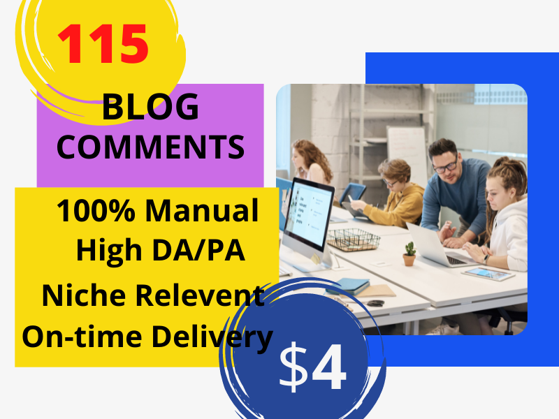 I will write 115 manually produced quality blog comments