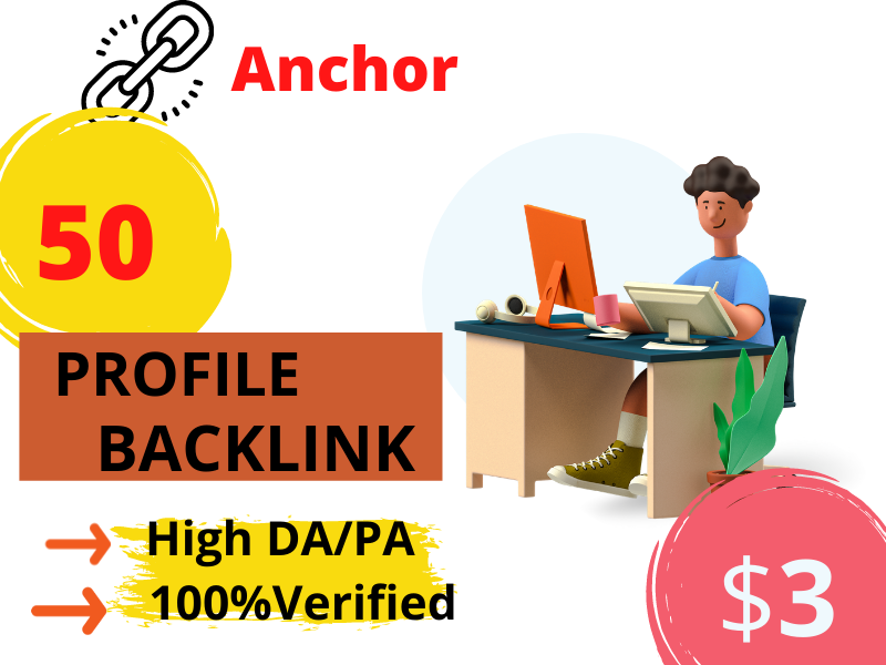 I will build 50 high DA/PA profile backlinks manually