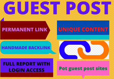 Write and publish 10 guest post on high da 50+ website unique content high authority backlinks