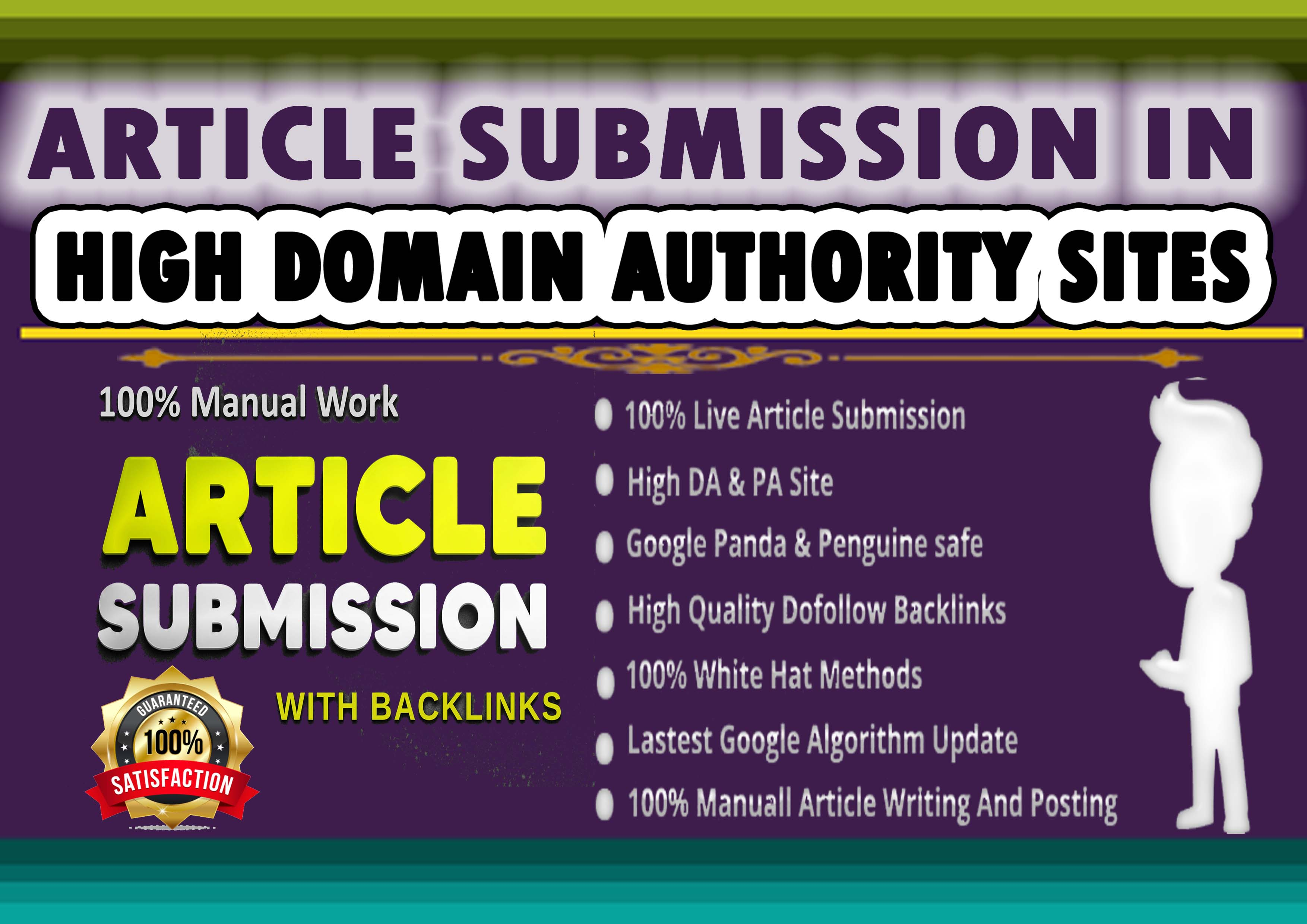 I Will Manually Submit Article 50 HQ Article Submission Website & Approved Link Report In 24 h