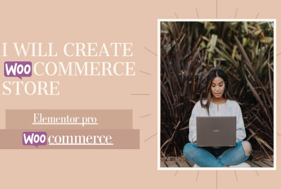 I will create professional ecommerce website with wordpress woocommerce