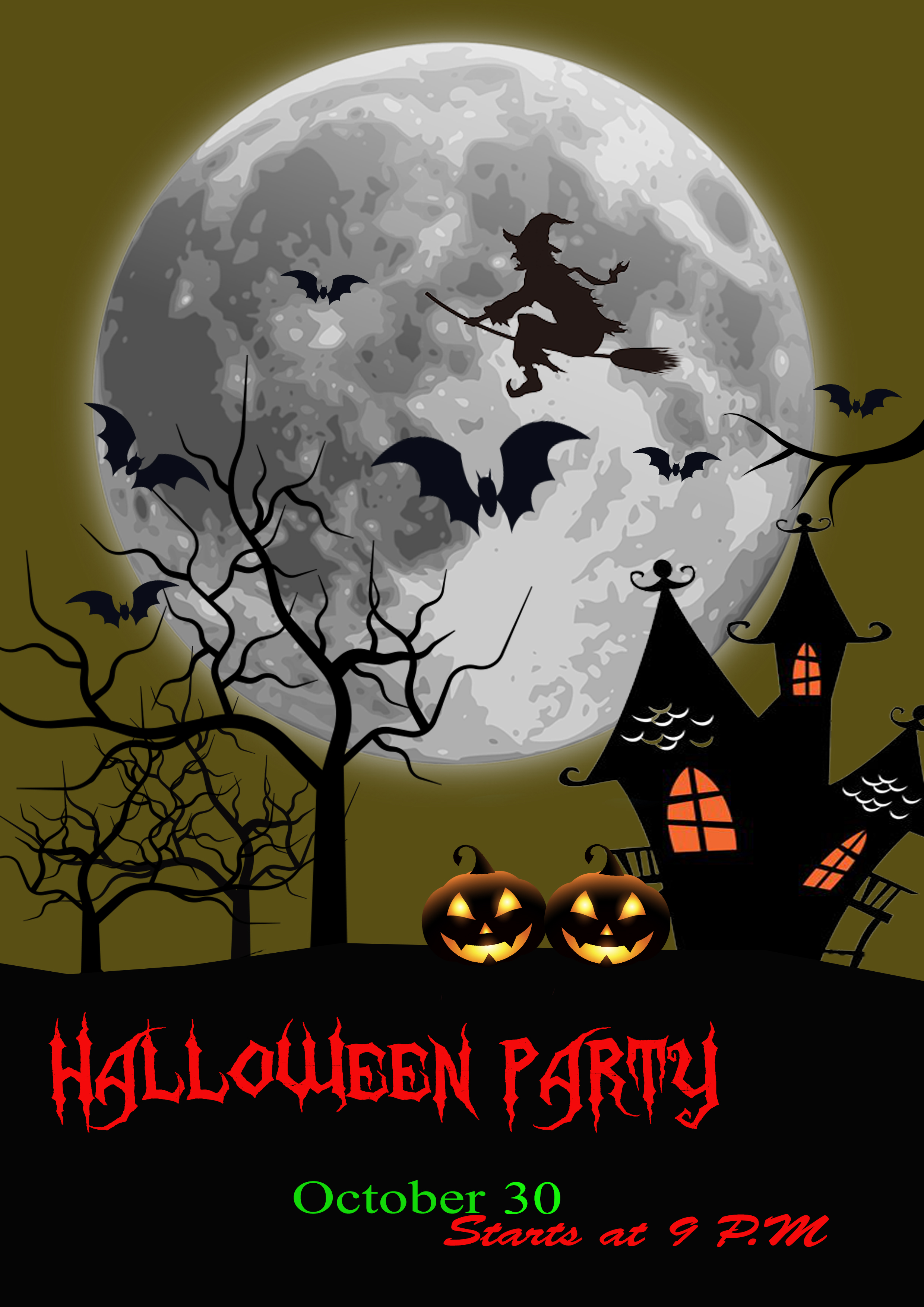 I will design Halloween flyers or posters with extreme quality