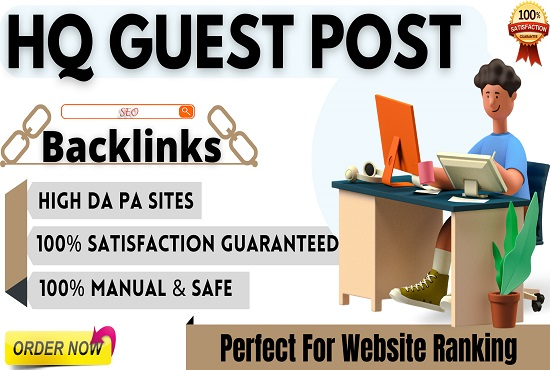 I Will Write and Publish 15 HQ Guest Posts On High Authority Websites with SEO Backlinks,  Link Build
