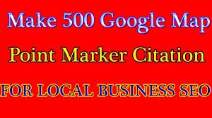 Make 500 Google Map Point Marker Citation