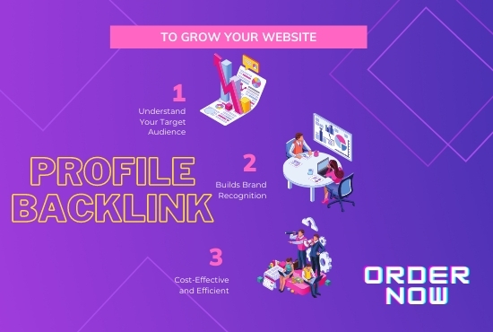 I will create high authority 200 SEO profile backlinks