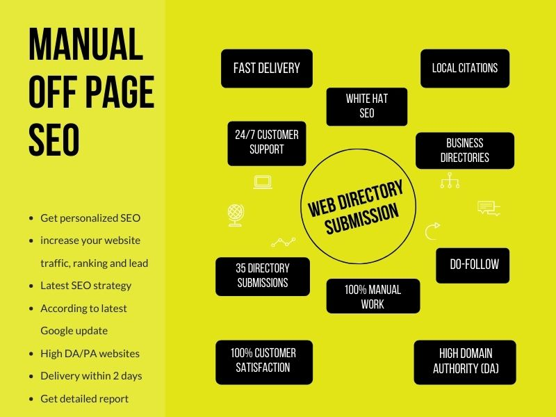 I will do 30 directory submissions manually on high DA/PA websites and increase traffic