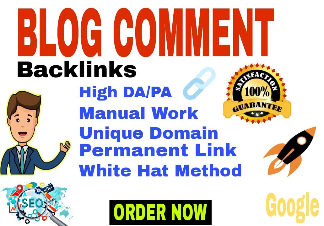 I will do manually 100 HQ blog comments SEO backlinks