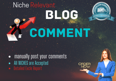 Published 30 niche relevant Blog comment manually