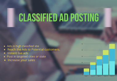 I will post your Ads on 50 top classified site worldwide