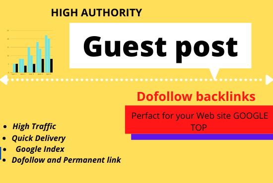 30 HQ dofollow guest post for SEO backlinks