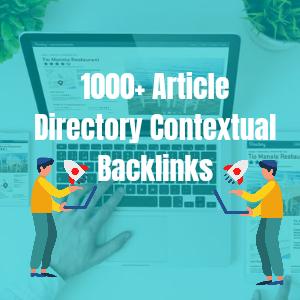 Create 1000+ Article Directory Contextual Backlinks