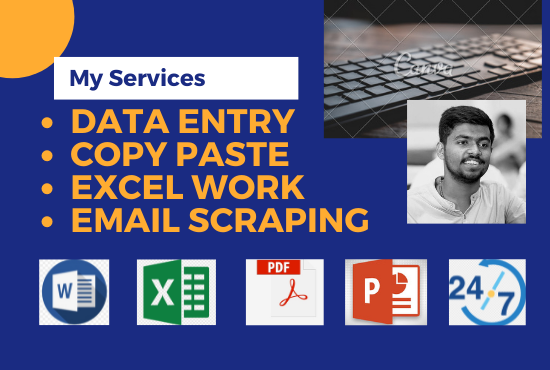 I will do perfect data entry,  copy paste and web research services