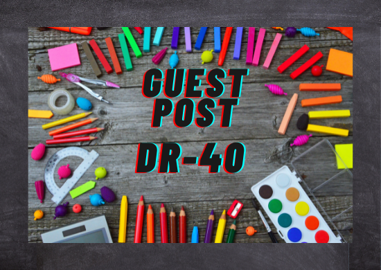 I will write and publish guest post with high DR-40