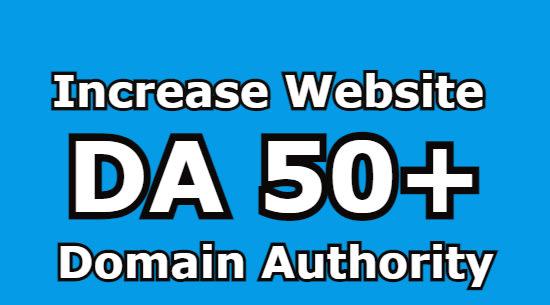 i will Increase moz DA domain authority 50+
