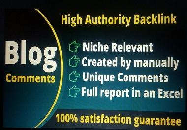 I will do 50 do-follow blog comment backlinks