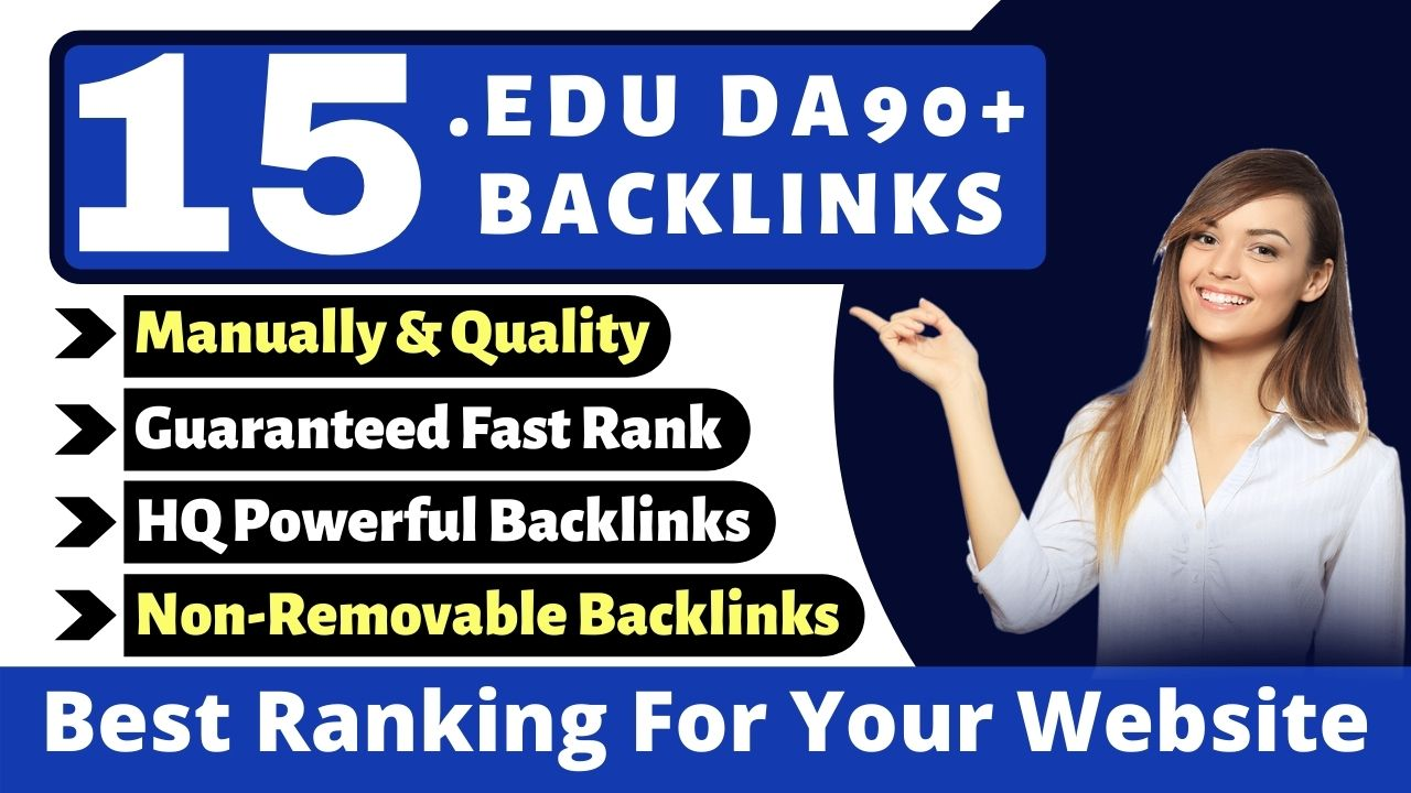I Will Write and Post 15 Manually HQ EDU Dofollow Post & Created From Top Universities