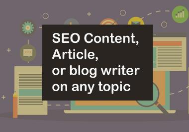 1000+ Words SEO Optimised Article Writing