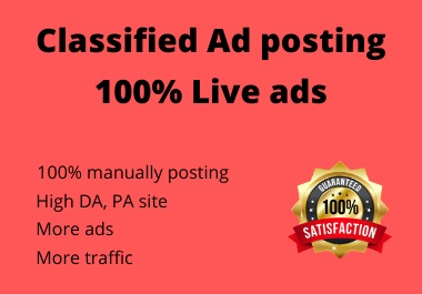I will submit 20 Classified ads post backlinks